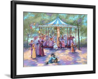 Blue Carousel-Judy Mastrangelo-Framed Giclee Print