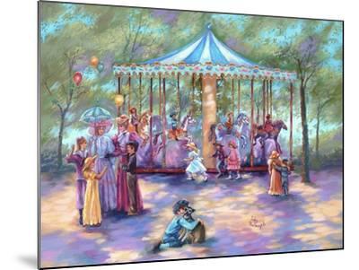 Blue Carousel-Judy Mastrangelo-Mounted Giclee Print