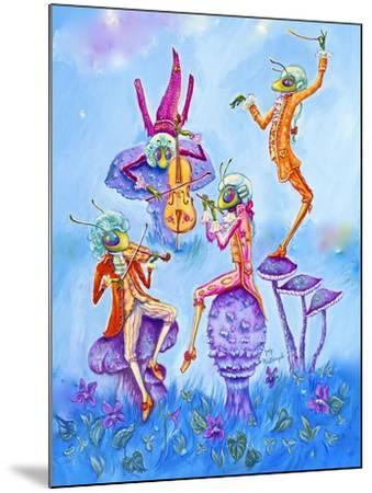 Cricket Concert-Judy Mastrangelo-Mounted Giclee Print