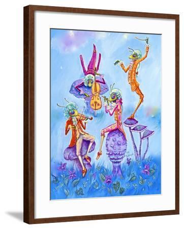 Cricket Concert-Judy Mastrangelo-Framed Giclee Print
