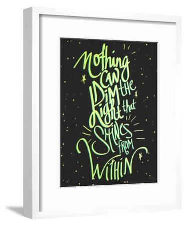 Nothing Can Dim the Light-Kimberly Glover-Framed Premium Giclee Print
