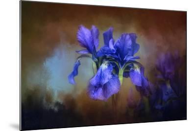 Blue Iris Blooms-Jai Johnson-Mounted Giclee Print