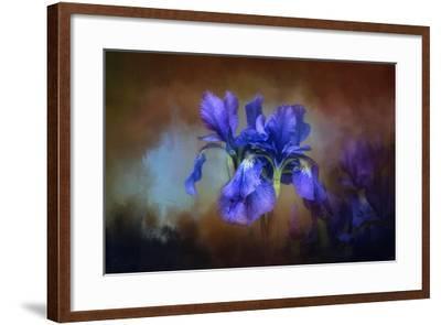 Blue Iris Blooms-Jai Johnson-Framed Giclee Print