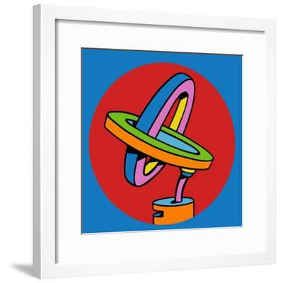 Loop Duo Circle-Howie Green-Framed Giclee Print