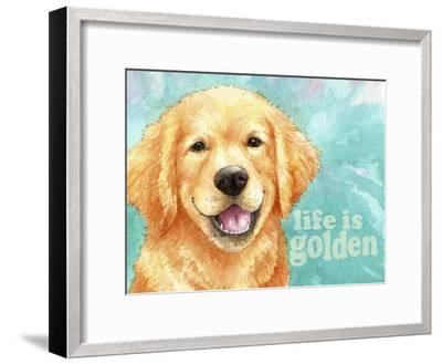 Life Is Golden Retriever-Melinda Hipsher-Framed Giclee Print
