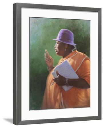 Woman-Michael Jackson-Framed Giclee Print
