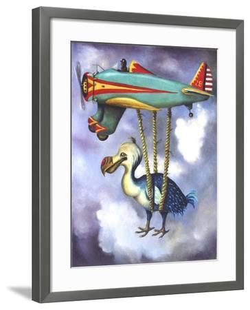 Lazy Bird W Dodo-Leah Saulnier-Framed Giclee Print