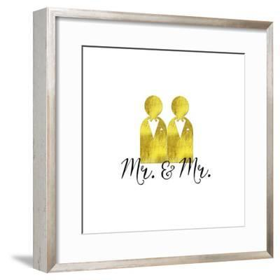 Wedding Couple Mr Mr-Tina Lavoie-Framed Giclee Print