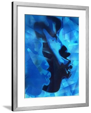 Graphic Kiss-Abstract Graffiti-Framed Giclee Print