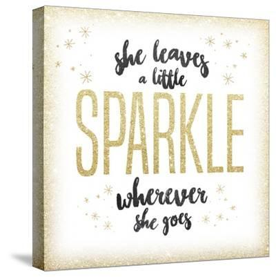 She leaves a sparkle 1-Kimberly Glover-Stretched Canvas Print