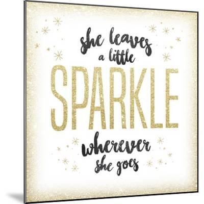 She leaves a sparkle 1-Kimberly Glover-Mounted Premium Giclee Print