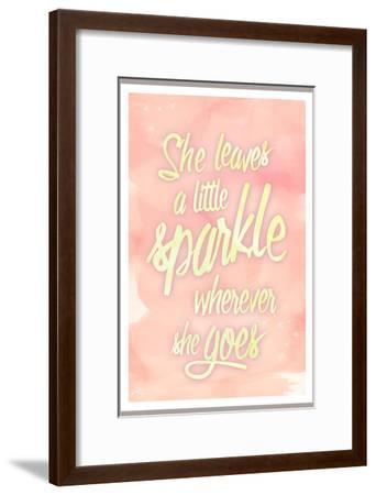 She leaves a sparkle 2-Kimberly Glover-Framed Premium Giclee Print