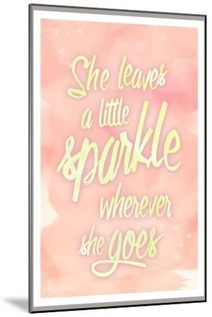 She leaves a sparkle 2-Kimberly Glover-Mounted Premium Giclee Print