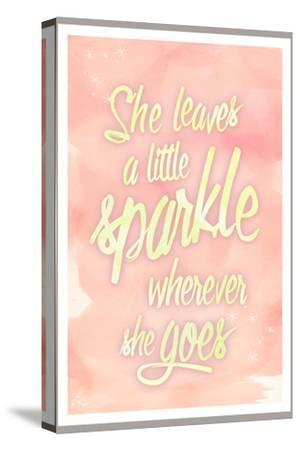 She leaves a sparkle 2-Kimberly Glover-Stretched Canvas Print