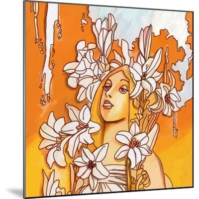 Mucha Lady 116 3-Howie Green-Mounted Giclee Print