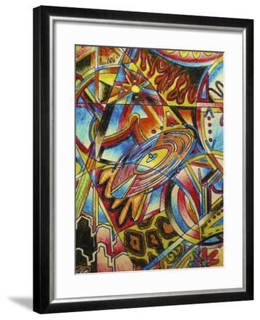 Music-Abstract Graffiti-Framed Giclee Print