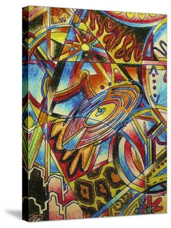 Music-Abstract Graffiti-Stretched Canvas Print