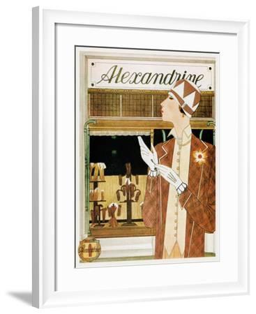 Alexandrine Gloves Accessories Paris 1925-Vintage Lavoie-Framed Giclee Print