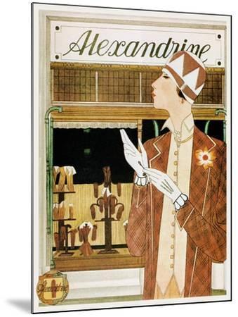 Alexandrine Gloves Accessories Paris 1925-Vintage Lavoie-Mounted Giclee Print