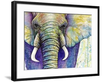Elephant Face-Michelle Faber-Framed Giclee Print