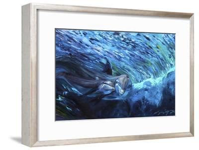 All My Waves Mother and Baby Bottlenose Dolphin-Lucy P. McTier-Framed Giclee Print