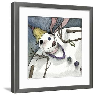 Snowman III-Kory Fluckiger-Framed Giclee Print