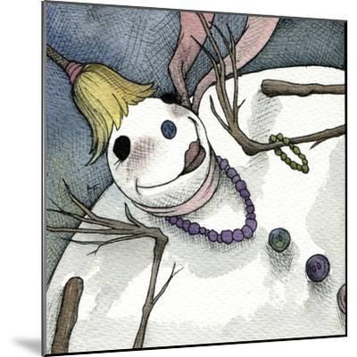 Snowman III-Kory Fluckiger-Mounted Giclee Print