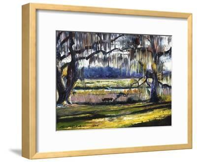 Lowcountry Spanish Moss Escape-Lucy P. McTier-Framed Giclee Print