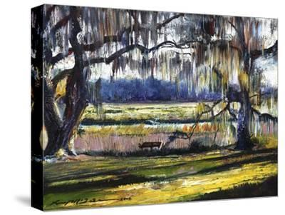 Lowcountry Spanish Moss Escape-Lucy P. McTier-Stretched Canvas Print