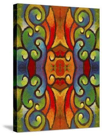 Pop Art Swirls-Howie Green-Stretched Canvas Print