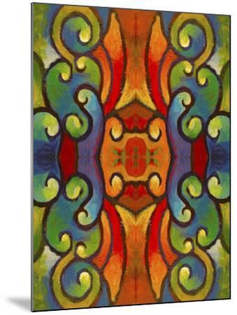Pop Art Swirls-Howie Green-Mounted Giclee Print