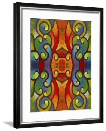 Pop Art Swirls-Howie Green-Framed Giclee Print