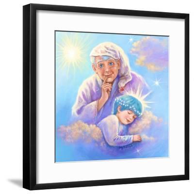 Man in the Moon and Sleeping Twinkle Star-Judy Mastrangelo-Framed Giclee Print