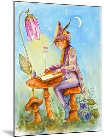 Elf Scribe-Judy Mastrangelo-Mounted Giclee Print