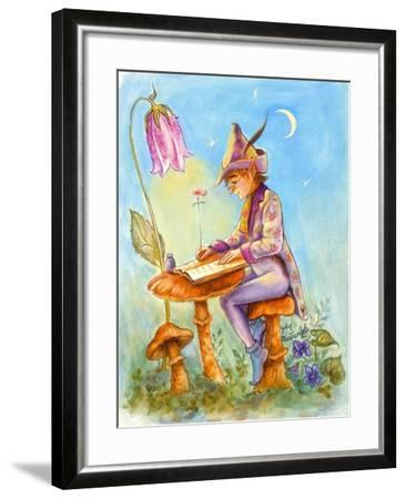 Elf Scribe-Judy Mastrangelo-Framed Giclee Print