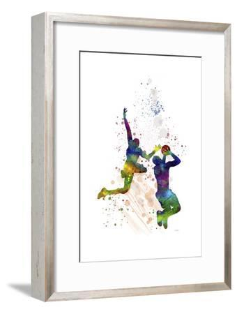 Basket Ball Player 1-Marlene Watson-Framed Giclee Print