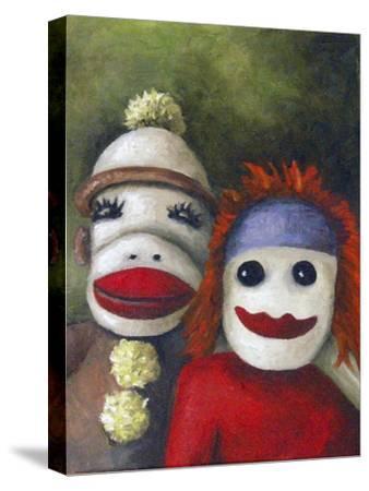 Love Socks-Leah Saulnier-Stretched Canvas Print