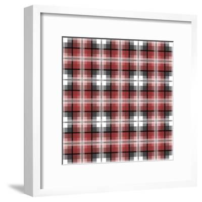 Red Gray Check-Jennifer Nilsson-Framed Giclee Print