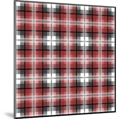 Red Gray Check-Jennifer Nilsson-Mounted Giclee Print