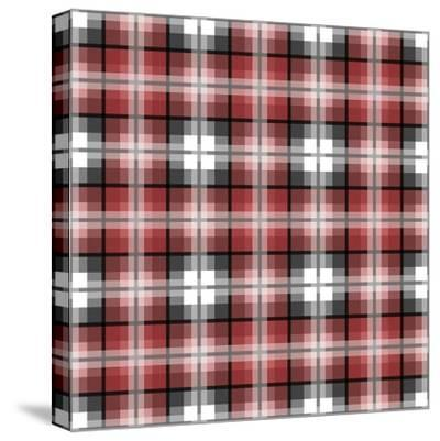 Red Gray Check-Jennifer Nilsson-Stretched Canvas Print