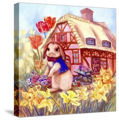 Parsley Bunny's House-Judy Mastrangelo-Stretched Canvas Print