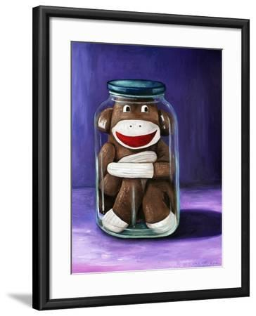 Preserving Childhood Sock Monkey-Leah Saulnier-Framed Giclee Print