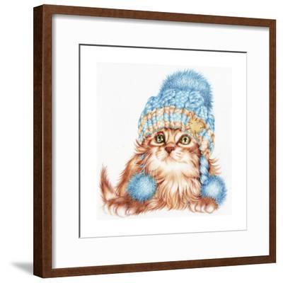 Winter Kitten-Karen Middleton-Framed Giclee Print