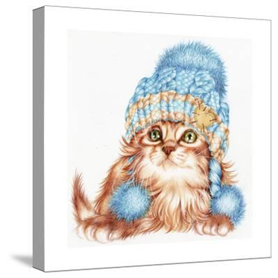 Winter Kitten-Karen Middleton-Stretched Canvas Print
