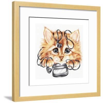 Wired Kitten-Karen Middleton-Framed Giclee Print