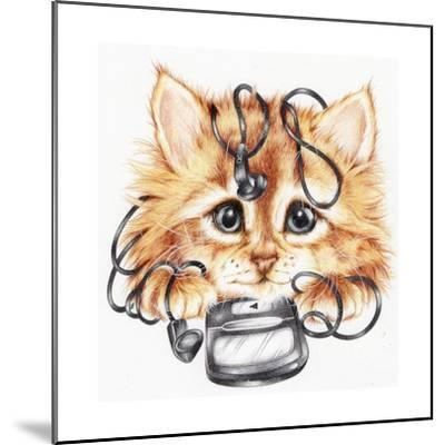 Wired Kitten-Karen Middleton-Mounted Giclee Print
