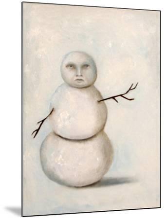 Snowman-Leah Saulnier-Mounted Giclee Print