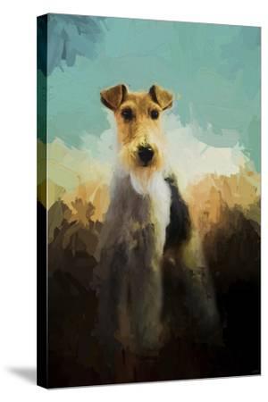 Fox Terrier on Alert-Jai Johnson-Stretched Canvas Print