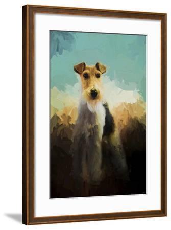 Fox Terrier on Alert-Jai Johnson-Framed Giclee Print