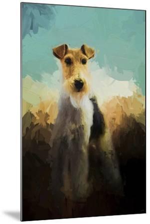 Fox Terrier on Alert-Jai Johnson-Mounted Giclee Print